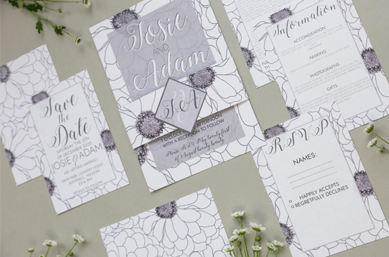 Ada - an ABCD wedding stationery collection