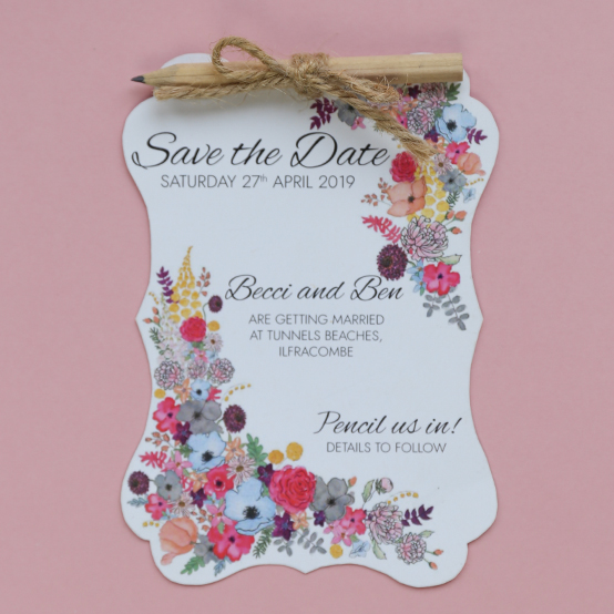 Save the date from the Alice wedding stationery collection