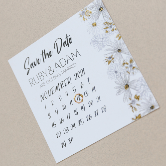Alma wedding stationery – save the date