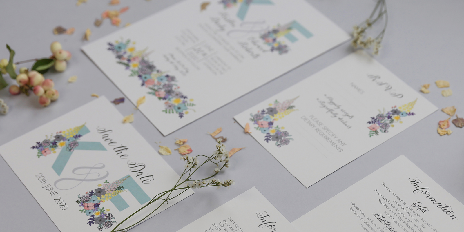 The Amelia Wedding Stationery Collection