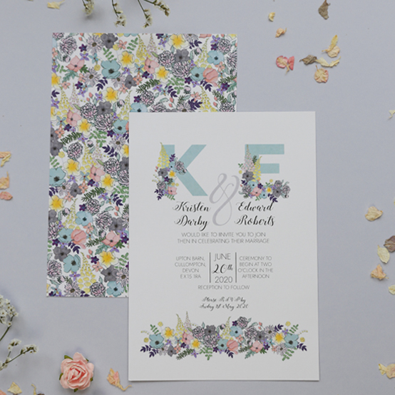 Amelia wedding stationery - invitation