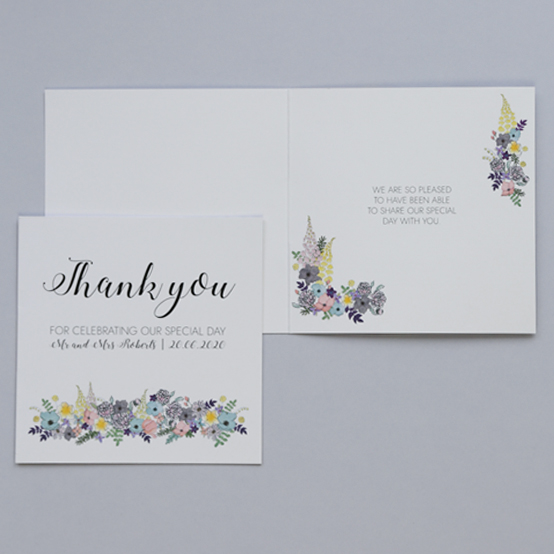 Thank you card from The Amelia Collection