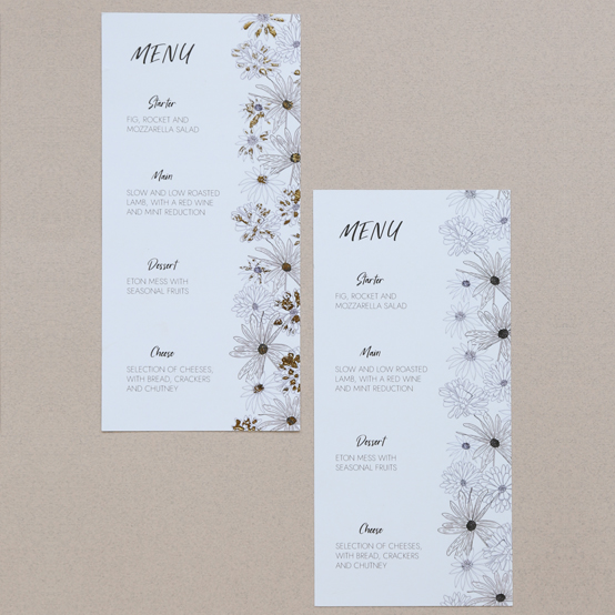 Menu from the Alma Collection
