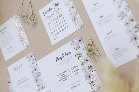 Alma - an ABCD wedding stationery collection