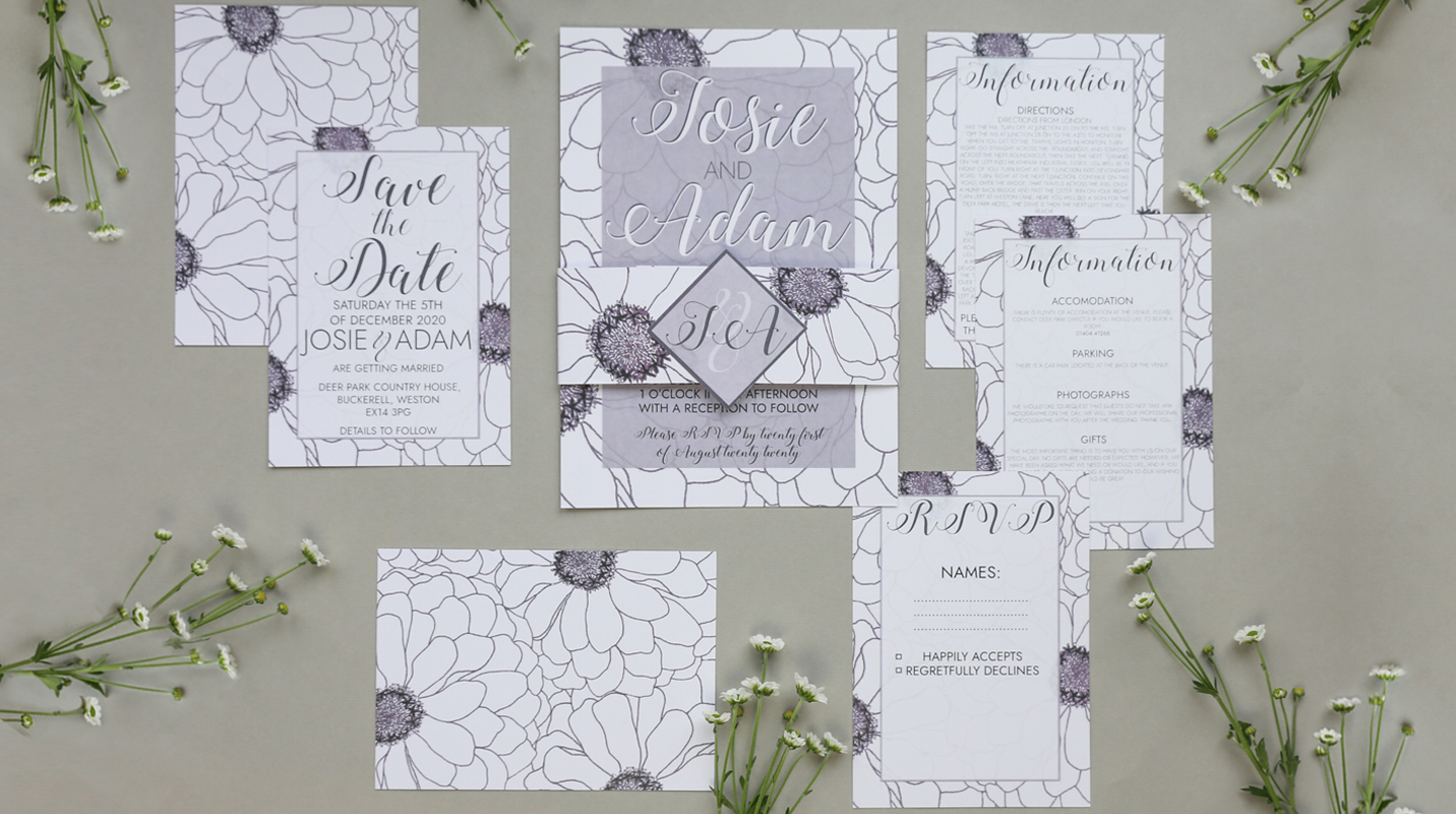 Ada wedding stationery suite