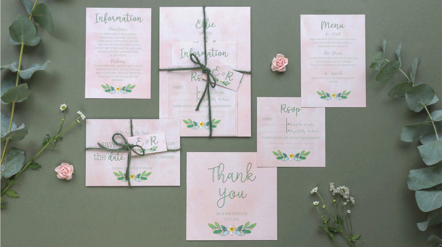 Alexa wedding stationery suite