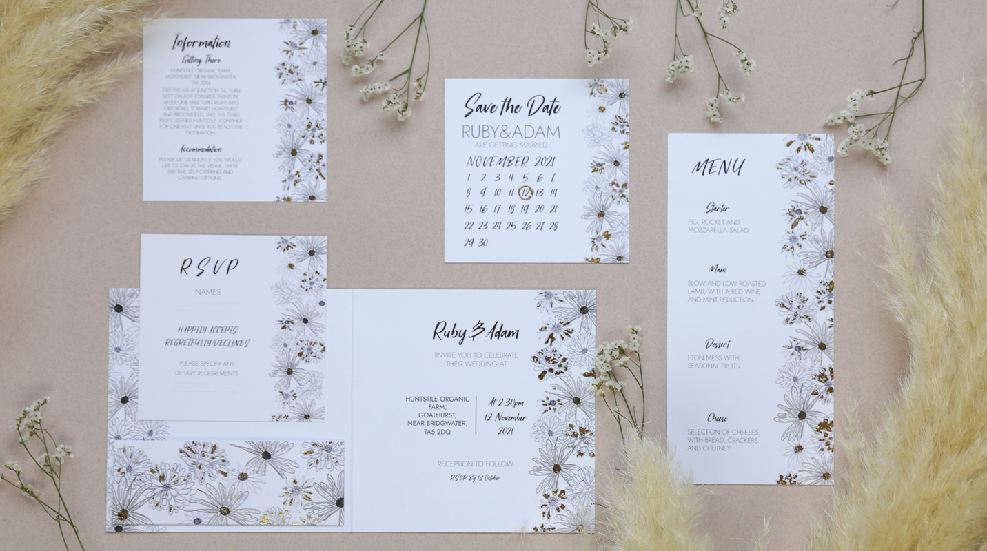 Alma wedding stationery suite