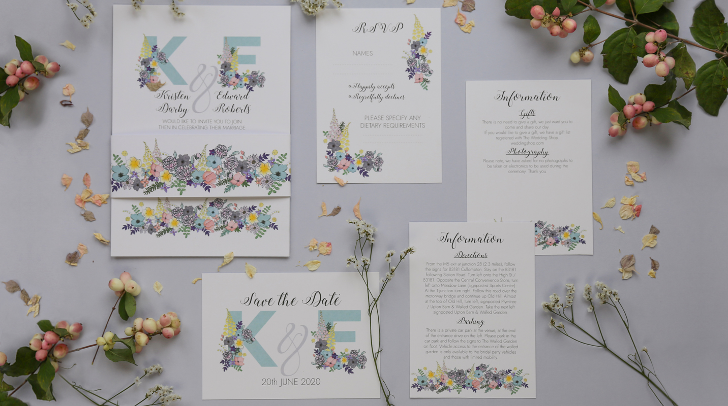 Amelia wedding stationery suite