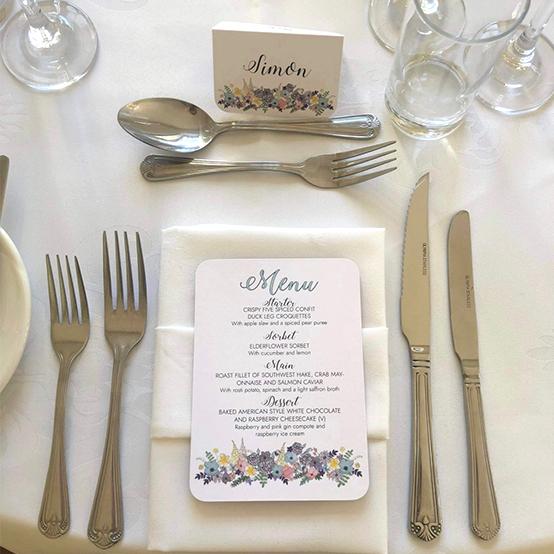 Amelia wedding stationery - invitation