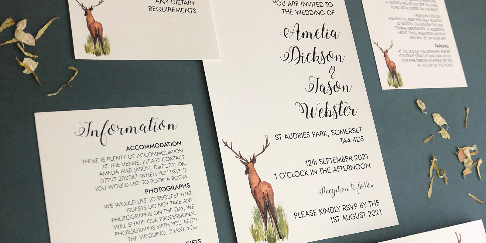 Audrey wedding stationery collection